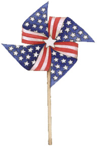 July 4th Pinwheel graphic