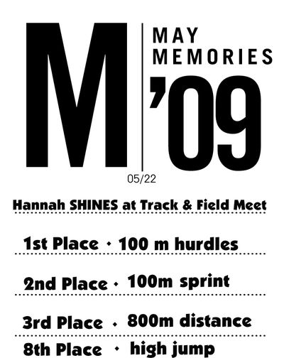 Hannah Track and Field Stamp