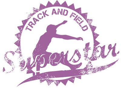 Hannah Track & Field Stamp Purple