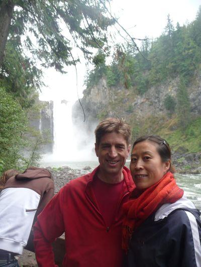 Ron & Yuping Visit - Snoqualmie Falls 012