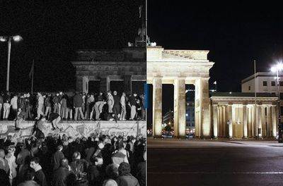 Berlin Wall then and now 3