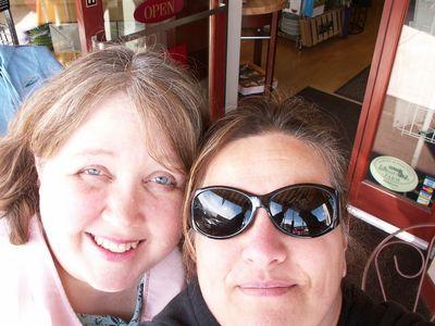 Dana & I exploring downtown